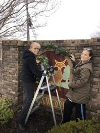 Sharen & Leslie decorating